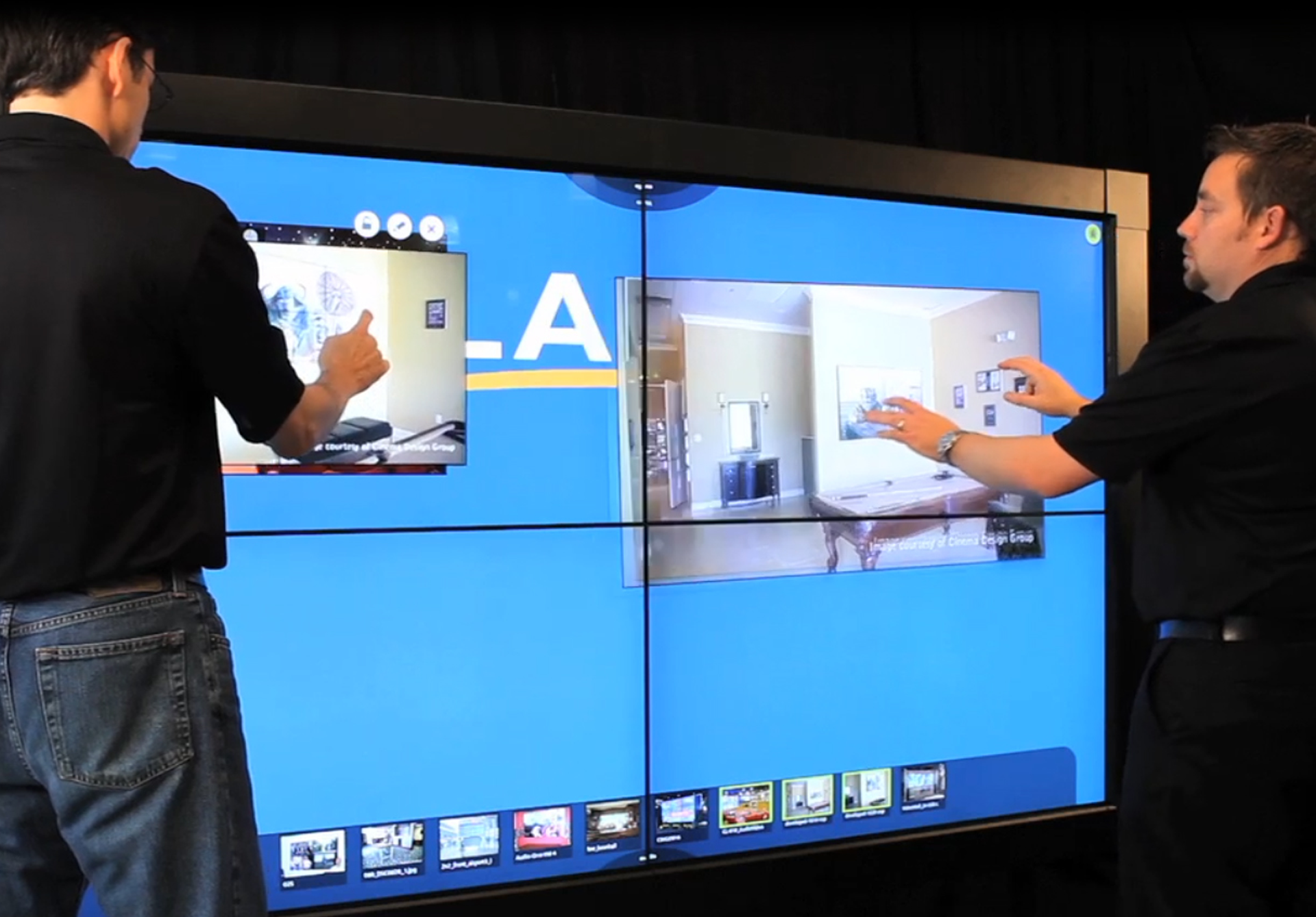 Videowall touch 2x2 horizontal